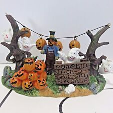 Spooky Halloween Village Table Accent, PUMPKIN JACK-O-LANTERN FOR SALE, Used