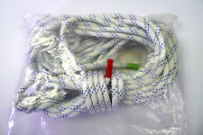 """Teufelberger Premium Rope KM III 1/2""""  X 63' White/Blue Whipped Ends"""