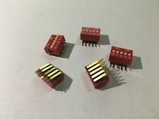 5 pos Dip switch Right Angle Dual in Line Apem NDA5-V 10 piece Lot ((W-2)