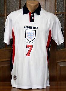 ENGLAND NATIONAL TEAM 1997/1998 HOME FOOTBALL SOCCER JERSEY SHIRT SIZE M