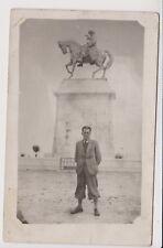 1943 GREECE Kavala Καβάλα Mehmet Ali of Egypt Monument Real Photo