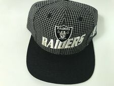 Vintage Oakland Raiders Adjustable Hat Black NFL