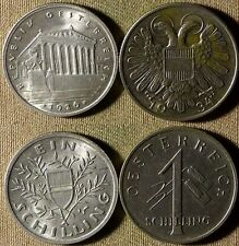 Austria : Lot 2 Coins 1 Sch.1926 +1 Sch. 1934  Both CH.UNC     IR3833