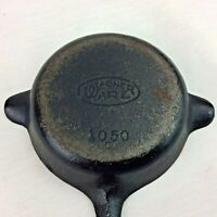 Vintage Wagner Ware Cast Iron Ashtray Mold 1050 C Made in Sidney Ohio USA