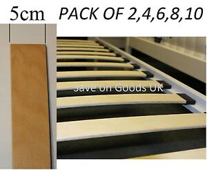 5cm Curved,sprung,Beech wood bed base slat.Slats,slates wooden spare replacement