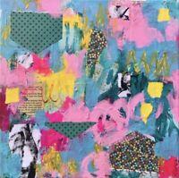 Original Abstract Contemporary Modern Art Mixed Media Acrylic Canvas