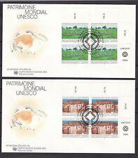 Briefmarken der Vereinten Nationen mit Bauwerks-Motiv