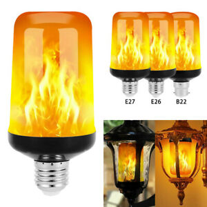 E27 E26 B22 Blub LED Flicker Light Flame Bulbs Effect Fire Decoration Lamp UK