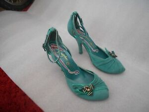 """WOMENS IRREGULAR CHOICE """"GREEN FROG"""" SHOES - UK SZ 6.5  - IN A GOODISH CONDITION"""