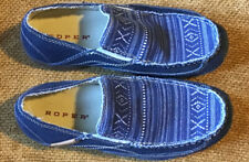 Roper Women Slip On Shoe Aztec Canvas Size 6.5 Comfort Stitched