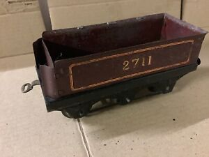 Vintage O Gauge Clockwork  Locomotive Hornby No2 6 WheeLed Tender Pre War