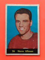 Norm Ullman 1960-61 #26  Vintage Hockey Card