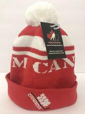 New Nike TEAM CANADA Red/White Knit Beanie Pom Hat Hockey Sports Unisex Olympics