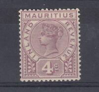 Mauritius QV 1896 4d Fiscal Revenue SGR3 MH J5482