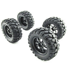 RC1:10 Off-Road RC Car 12mm Hub Y Type Wheel Rim & Tires Black Pack of 4