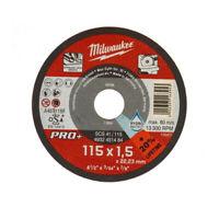 MILWAUKEE 1 Disco da Taglio Sottile   Metallo Ø115mm x1,5mm per Smerigliatrice