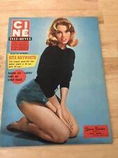 RARE FRENCH MAGAZINE CINE TELE-REVUE JANE FONDA 01/1960
