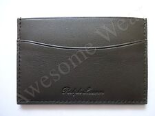 New Ralph Lauren Collection Dark Olive Green Leather Card case Wallet