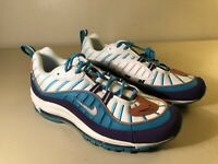 Nike Air Max 98 Size 9.5 Hornets 640744-500 Court Purple Terra Blush Spirit Teal
