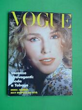 VOGUE Italia Maggio 1986 May cover Kim Alexis Madonna Ciccone William Garrett