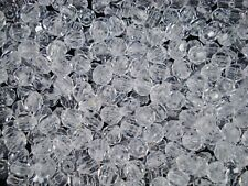Beads 8mm Faceted Plastic Clear 100g Bulk Pack Jewellery Craft POSTAGE