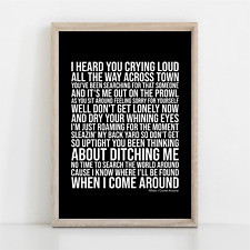 More details for green day when i come around song lyrics poster print wall art