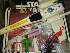 THE ORIGINAL WITH BOX WORKING ELECTRONICS CLASSIC X-WING FIGHTER +ACTION FIGUERS