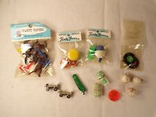 Vintage Party Favors Novelty Penny Toys Japan Unused Baseball Charm Knife Top