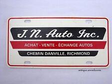 JN AUTO INC Plastic Vanity Vintage License Plate