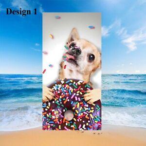 Cool Dog Cat Kitten Bath Pool Swim Spa Beach Towel Blanket Holiday Birthday Gift