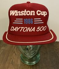 Vtg 1986 Winston Cup Daytona 500 Trucker Mesh Hat Cap Snapback USA Vintage NICE!