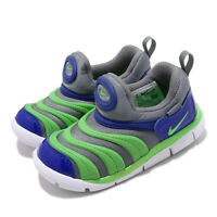 Nike Dynamo Free TD Grey Green Blue White Toddler Infant Baby Slip On 343938-021