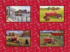 Farmall 4 Scene Panel Print