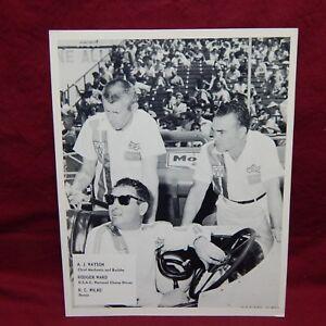 INDY 500 LEADER CARD A.J.WATSON, RODGER WARD, R.C. WILKE PHOTO 1960