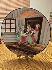 """""""CRIES OF LONDON"""" ~ 3-D Wall Plate ~ Cico Germany ~ 12.5"""" Fishmonger"""