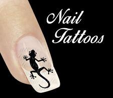 Nail Art Gecko Schwarz Tattoo Tiere 20 St. TT-11