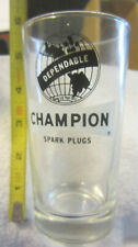 Vintage Libbey Dependable CHAMPION SPARK PLUGS Glass Tumbler Highball,unused