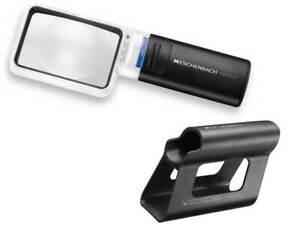 Eschenbach Mobilux 15114 LED 4X Magnifier - 75x50mm Lens + Mobase Stand