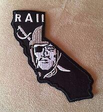 "🔥 NEW! 4"" OAKLAND RAIDERS Raider Nation California State Iron-on Jersey PATCH!"