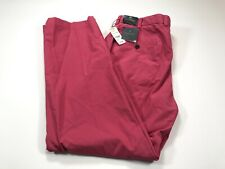 Brooks Brothers Clark 35x30 Flat Front Supima Cotton Sot Red Pink Chino NEW NWT