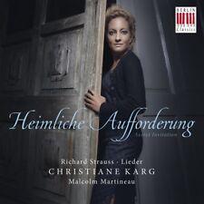 KARG,CHRISTIANE/MARTINEAU,MALCOLM - HEIMLICHE AUFFORDERUNG  CD NEW+ STRAUSS