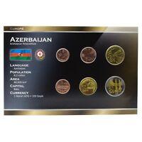 AZERBAIJAN FULL 6 COINS SET: 1, 3, 5, 10, 20, 50 QAPIK 2006 UNC