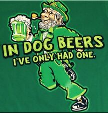 ST PATRICKS DAY T-SHIRT SMALL GREEN NEW DRINKING BEER