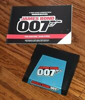 James bond 007 movie Atari 5200 video game cartridge w ORIGINAL MANUAL vtg