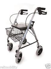 SR8 Folding 4 Wheeled Safety Rollator Walking Frame Seat Tray Basket Walker