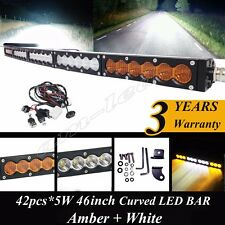 SINGLE ROW 44 INCH 210W CREE LED WORK LIGHT BAR CURVED COMBO for JEEP 4WD TRUCK