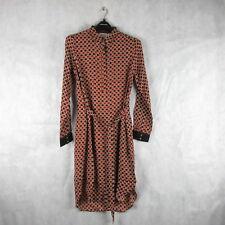 New! Stunning! Noa Noa Viscose Fluid Long Sleeve Dress Size 40 Stylish Smart