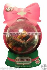 LIP SMACKER* 5pc Gift Set DR PEPPER Balm/Gloss SNOW GLOBE 7UP+Crush+A&W HOLIDAY