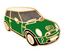 Mini One British Racing Green Car Pin Badge
