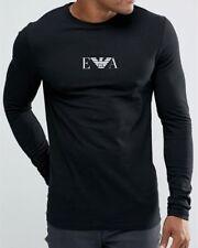 Emporio Armani E.A. Logo Mens Black Long sleeve T shirt size M*L*XL Muscle fit